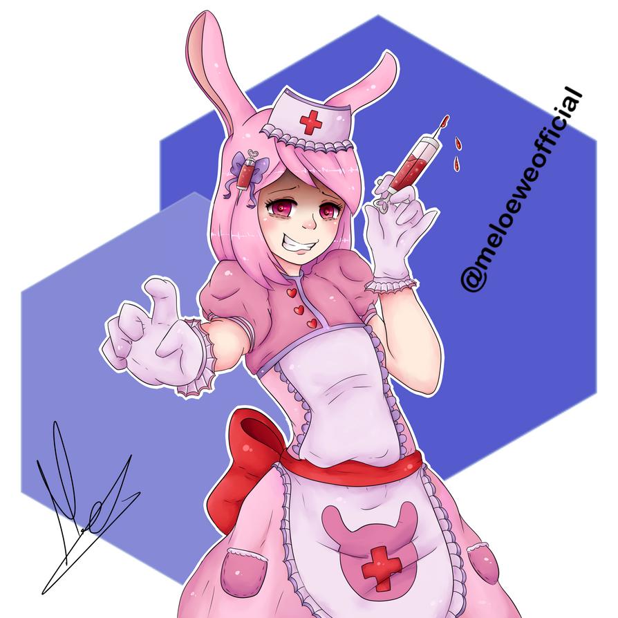 Bunny Nurse (OC of a friend drawn by me) by Meloewe