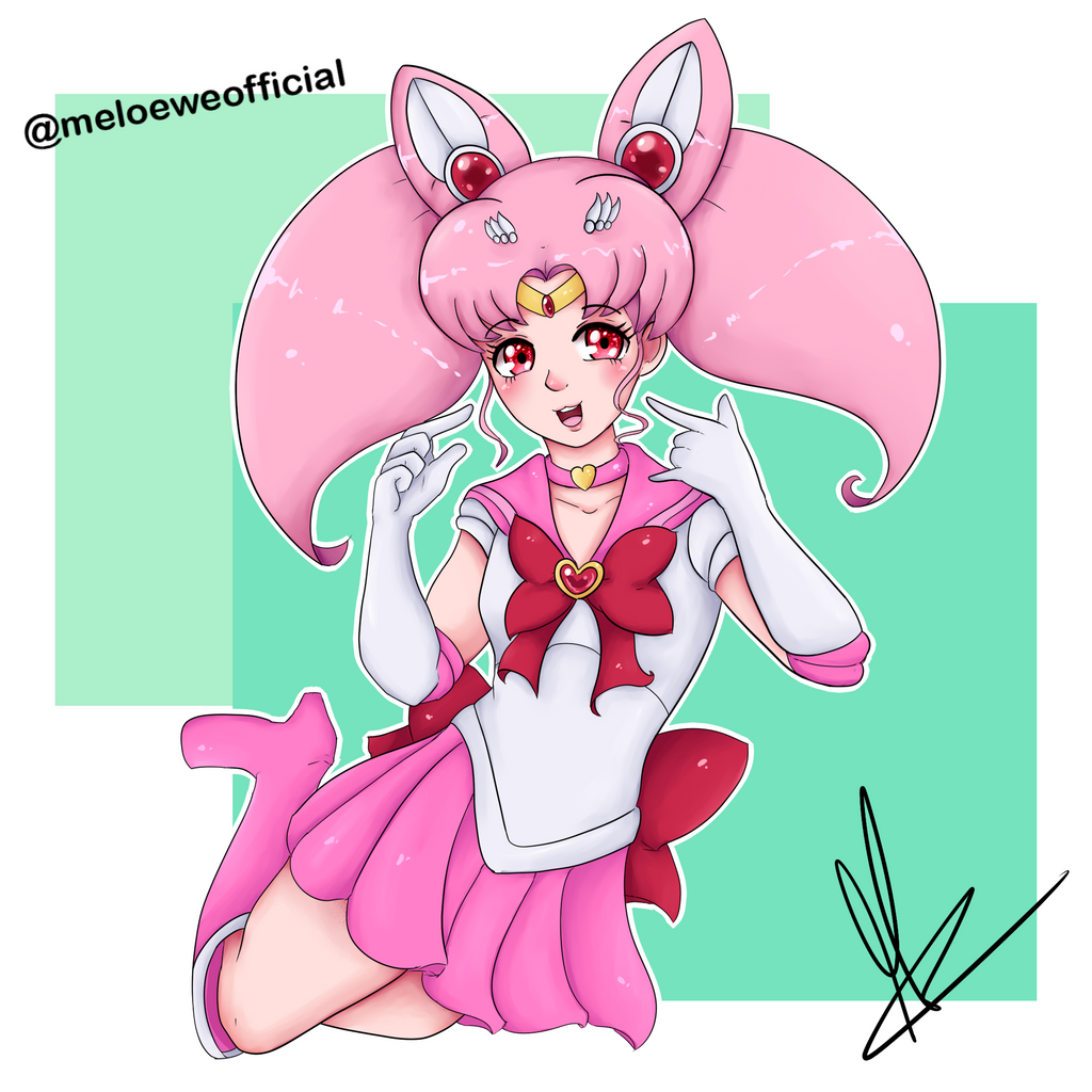 Sailor Chibi Moon by Meloewe