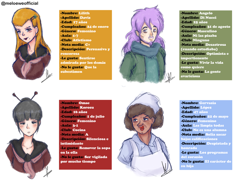 More OC's for The Club Law by Meloewe
