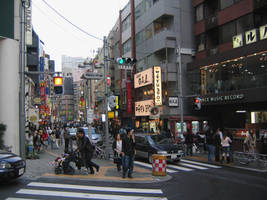 One of the street at Shibuya by fabemiko-stock