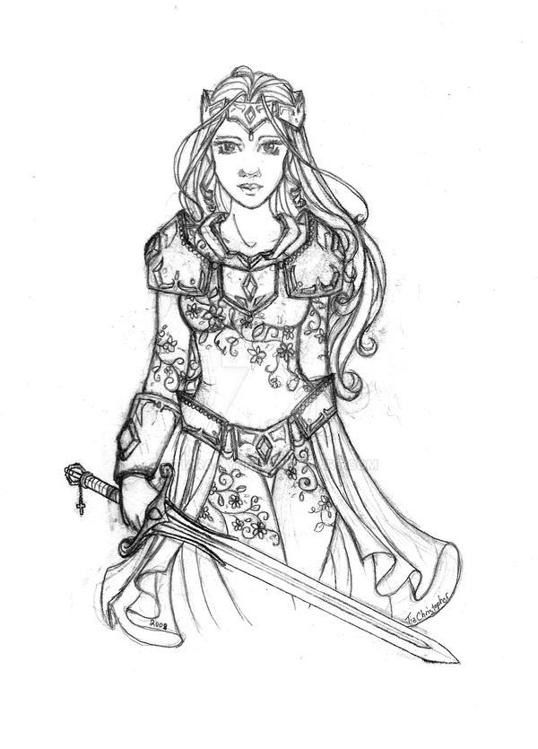 Renaissance Princess Coloring Pages : Medieval princess coloring pages