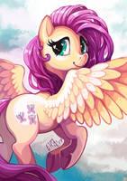 FlutterShy by The-Keyblade-Pony