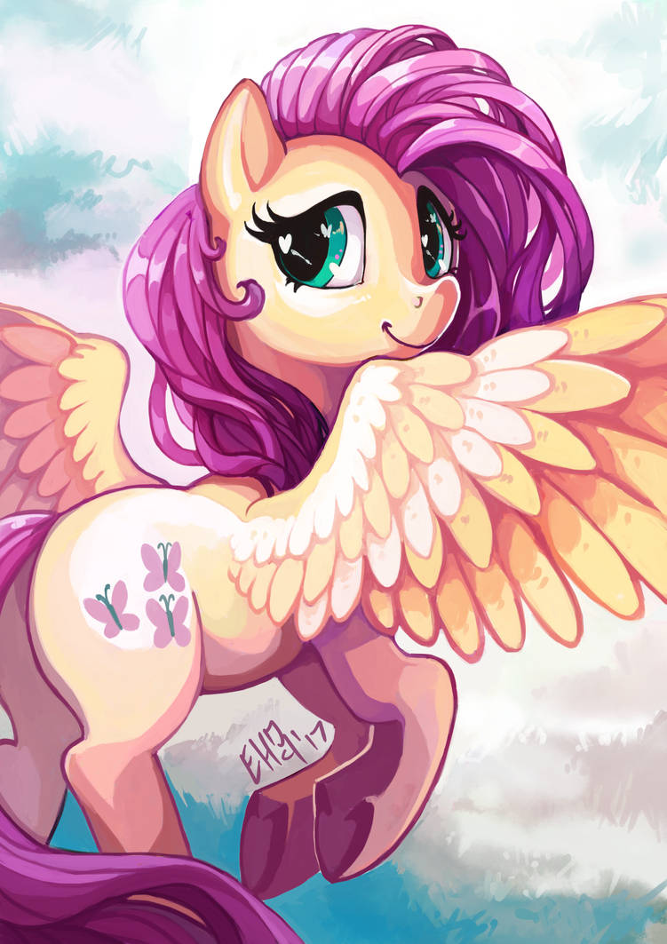 FlutterShy by The-Keyblade-Pony