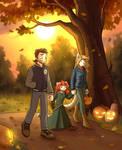 Autumn walk for treats