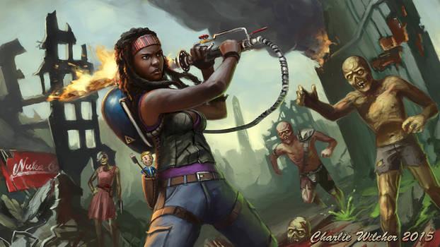 Michonne and the Shish Kabob