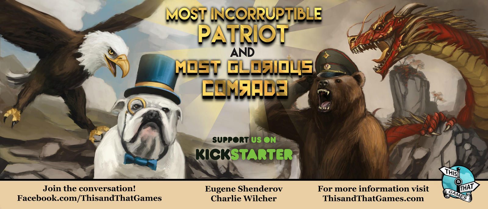 Comrades and Patriots Kickstarter Banner by CharlieWilcher