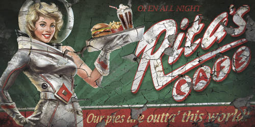 F4NV - Rita's Cafe Billboard 1 by CharlieWilcher