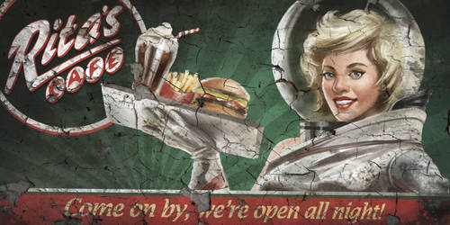 F4NV - Rita's Cafe Billboard 2 by CharlieWilcher