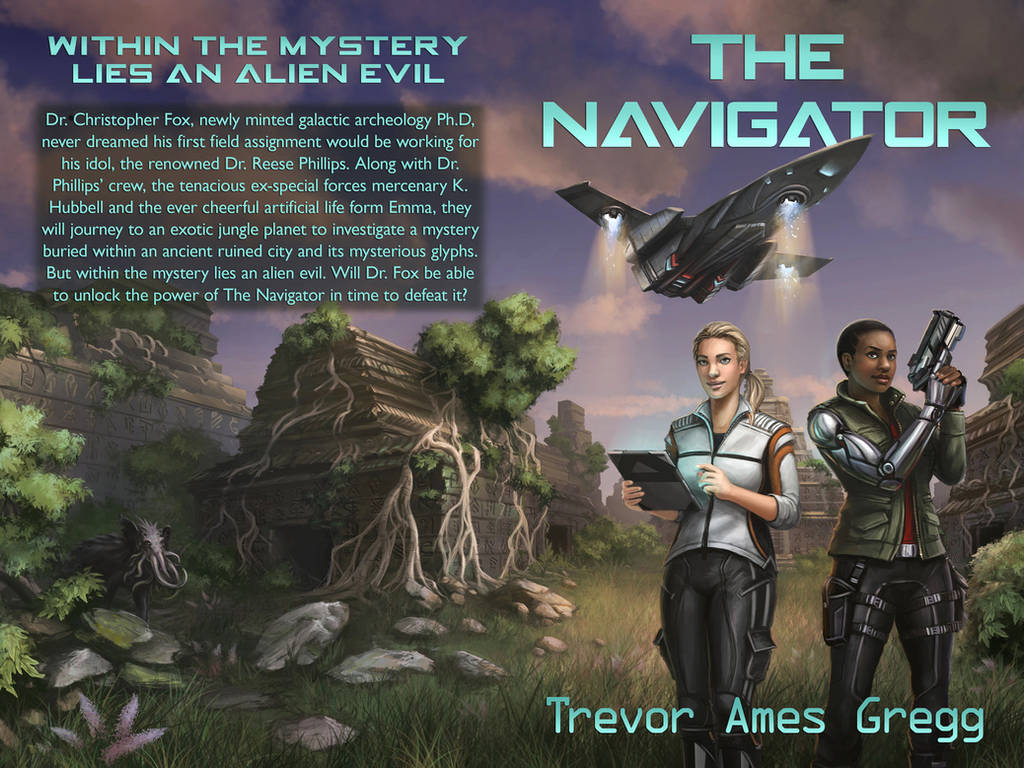 Commission - THE NAVIGATOR Book Cover by CharlieWilcher
