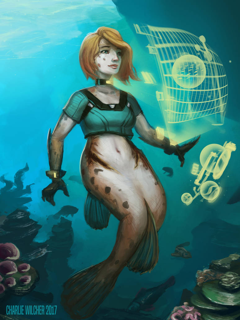 Techie Mermaid by CharlieWilcher