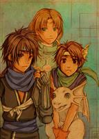 Suikoden II : Bishonen team by AzuraLine
