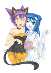 M.I. This is nyalloween : Ritze and Otoha by AzuraLine