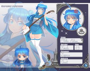 Chara-Ref : Otoha Mitsue by AzuraLine