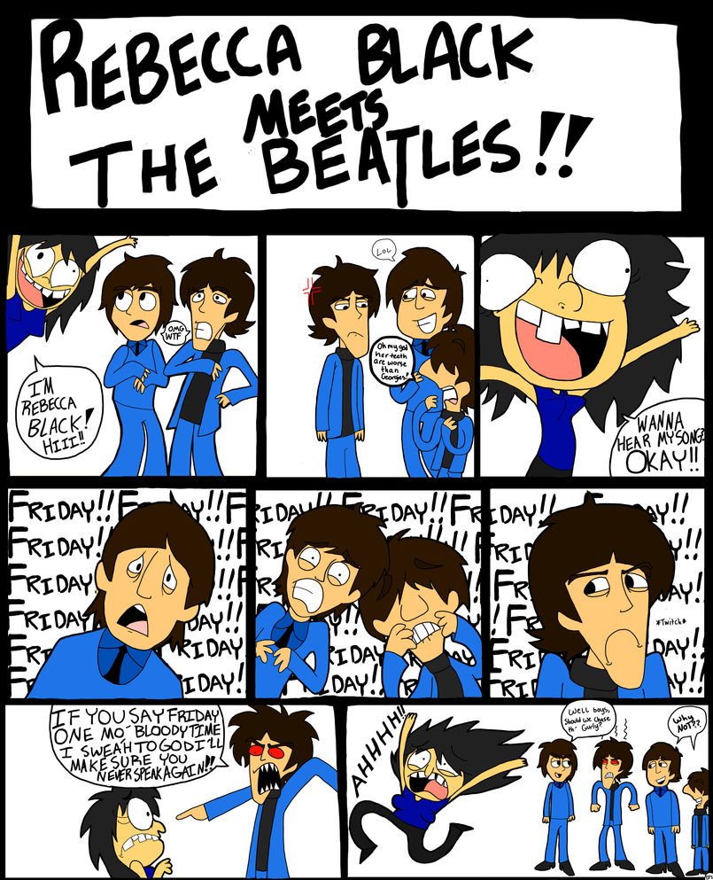 RebeccaBlack Meets The Beatles by Comickit
