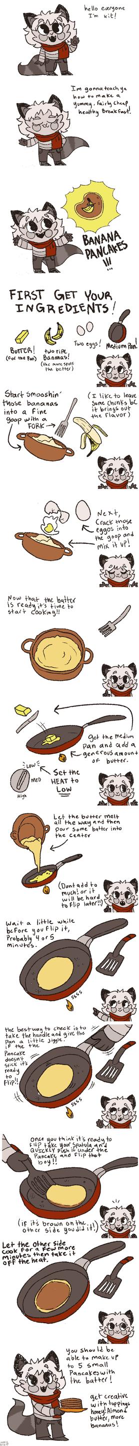 Banana Pancakes by Comickit