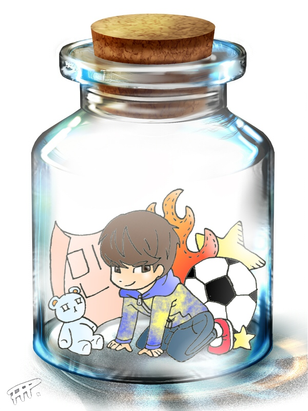 Minho in a bottle by Pulimcartoon