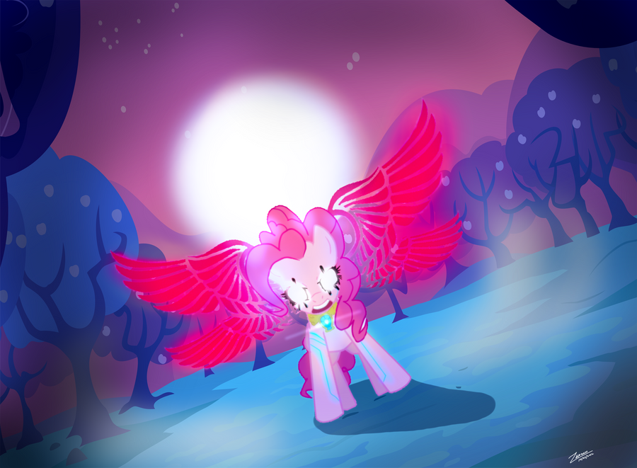 Pinkie Pie: Valkyrie Form by UltimaZeroah