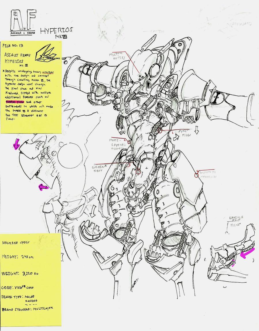 VANGUARD II Hyperios Battle-frame by UltimaZeroah