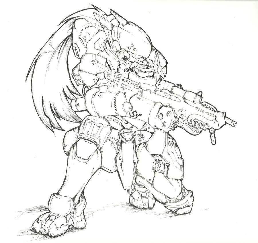 EXO-FRAME HYPERIOS mk III by UltimaZeroah
