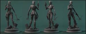 Tomb Raider Commission sculpt