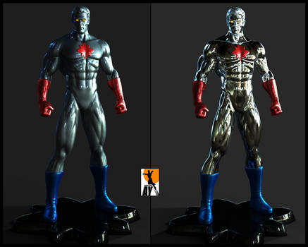 Captain Atom sculpt by AYsculpture