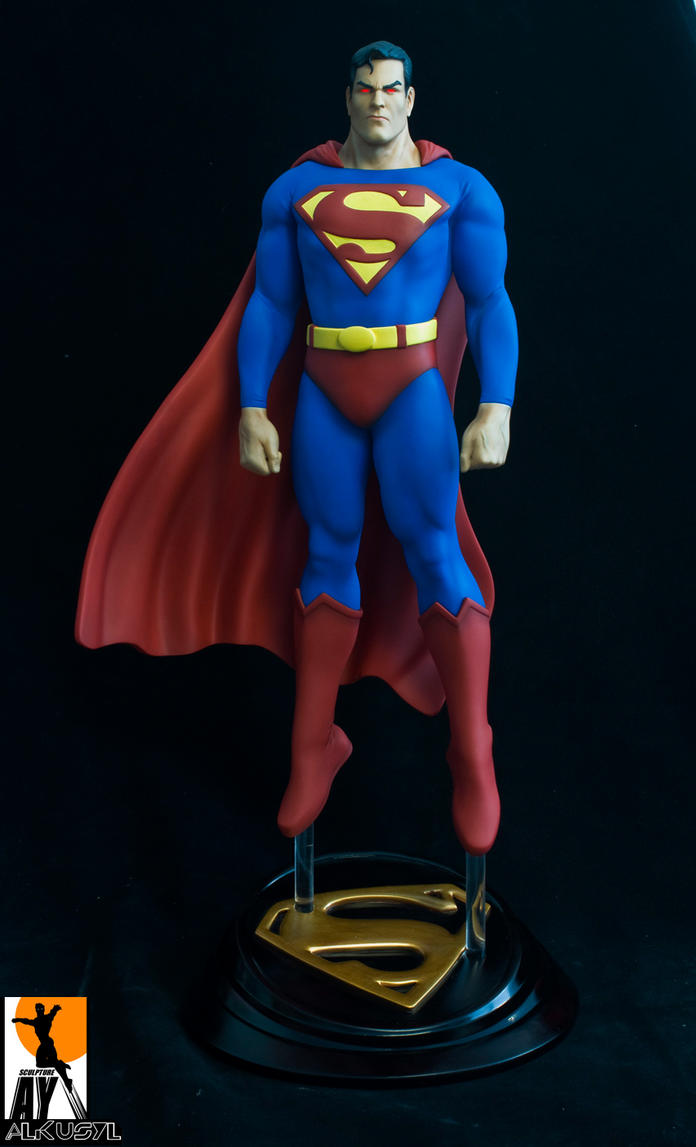 AlexRoss superman Painted by AYsculpture