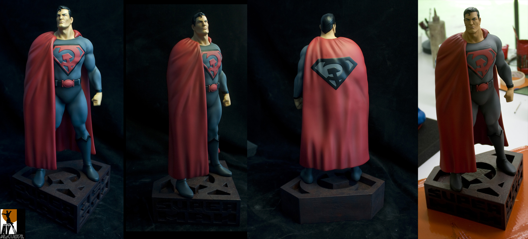 The Red Son painted by AYsculpture
