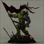 The Hulk prepares for war on Earth-Painted