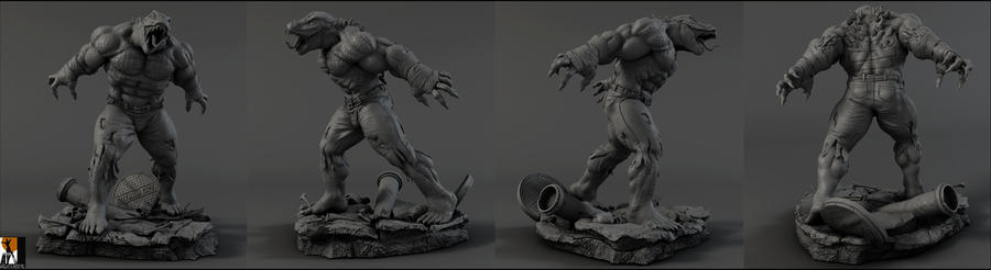 Killer Croc commission by AYsculpture