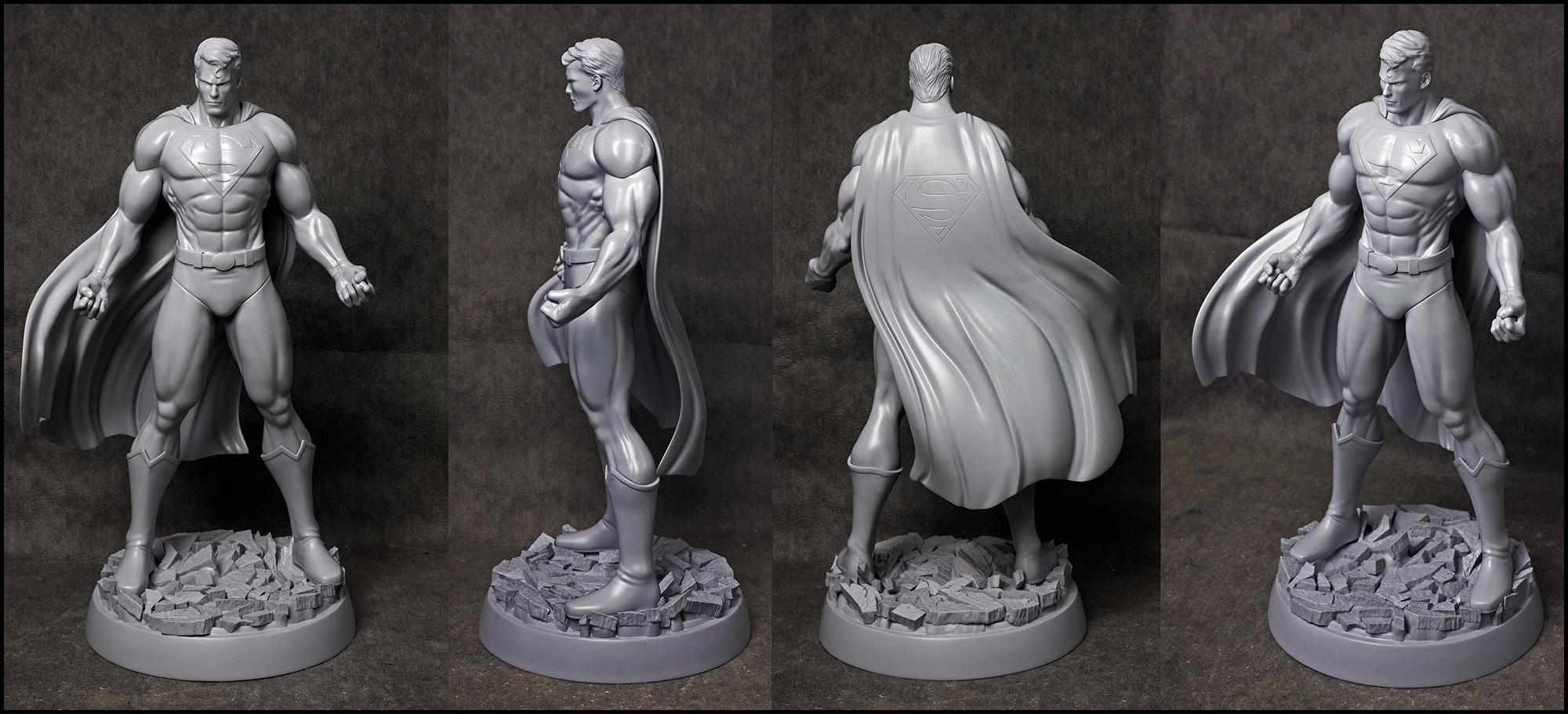 JL: Heroes of Tomorrow -SUPERMAN by AYsculpture
