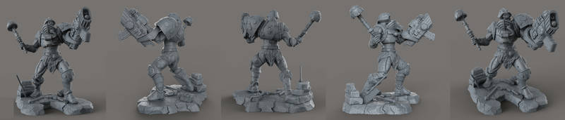 MAN-AT-ARMS by AYsculpture
