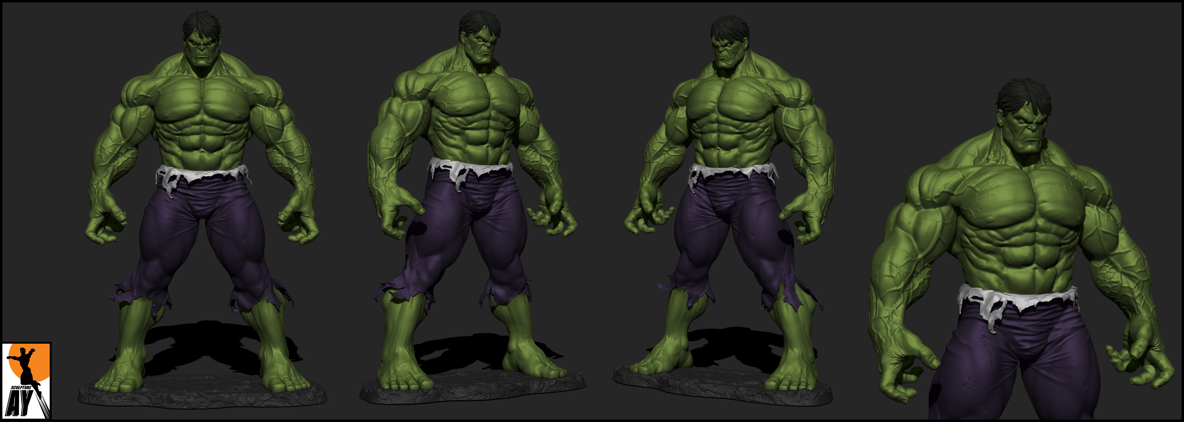 The Incredible Hulk by AYsculpture