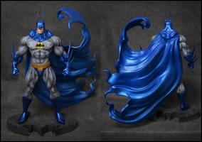 Simon Bisley Batman sculpt commission painted by AYsculpture