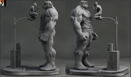 Hulkvs spidey by AYsculpture