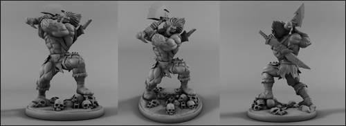 Skaar son of Hulk by AYsculpture
