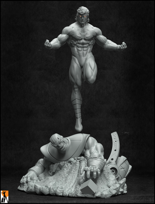 Captain Mar-vell -Fall of the Titan! by AYsculpture