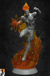 Firestorm The Nuclear Man by AYsculpture