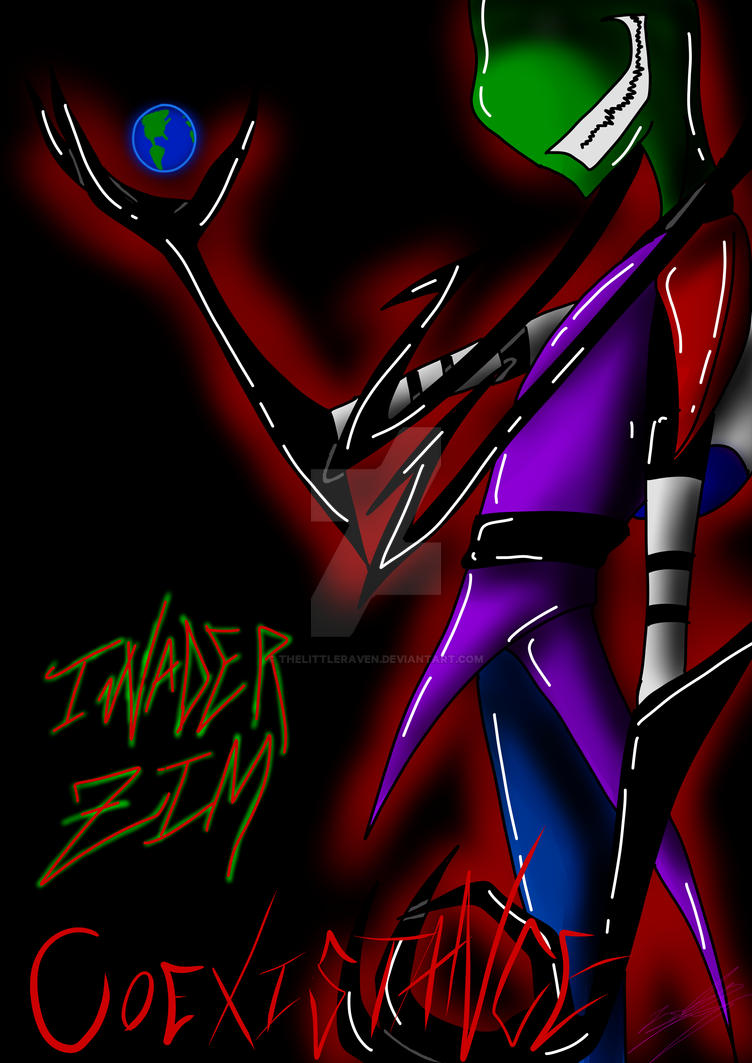 Invader Zim : Coexistence 2014 by TheLittleRaven