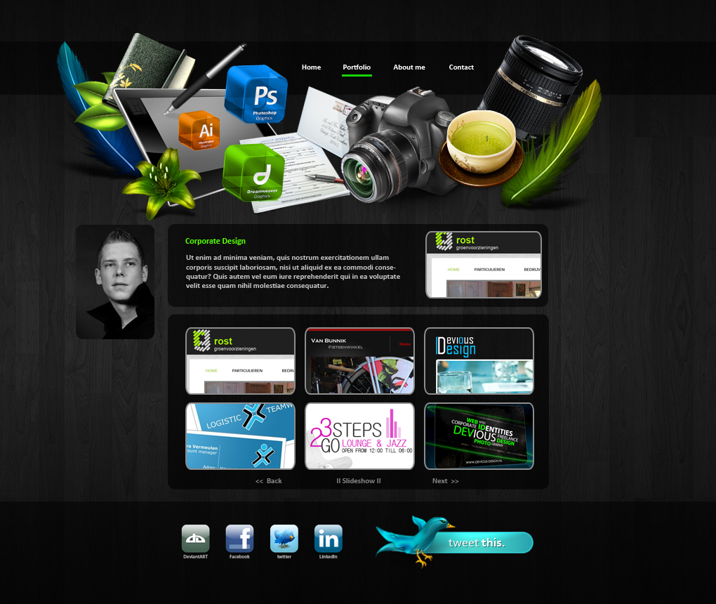 Personal Portfolio By Devious Design On Deviantart