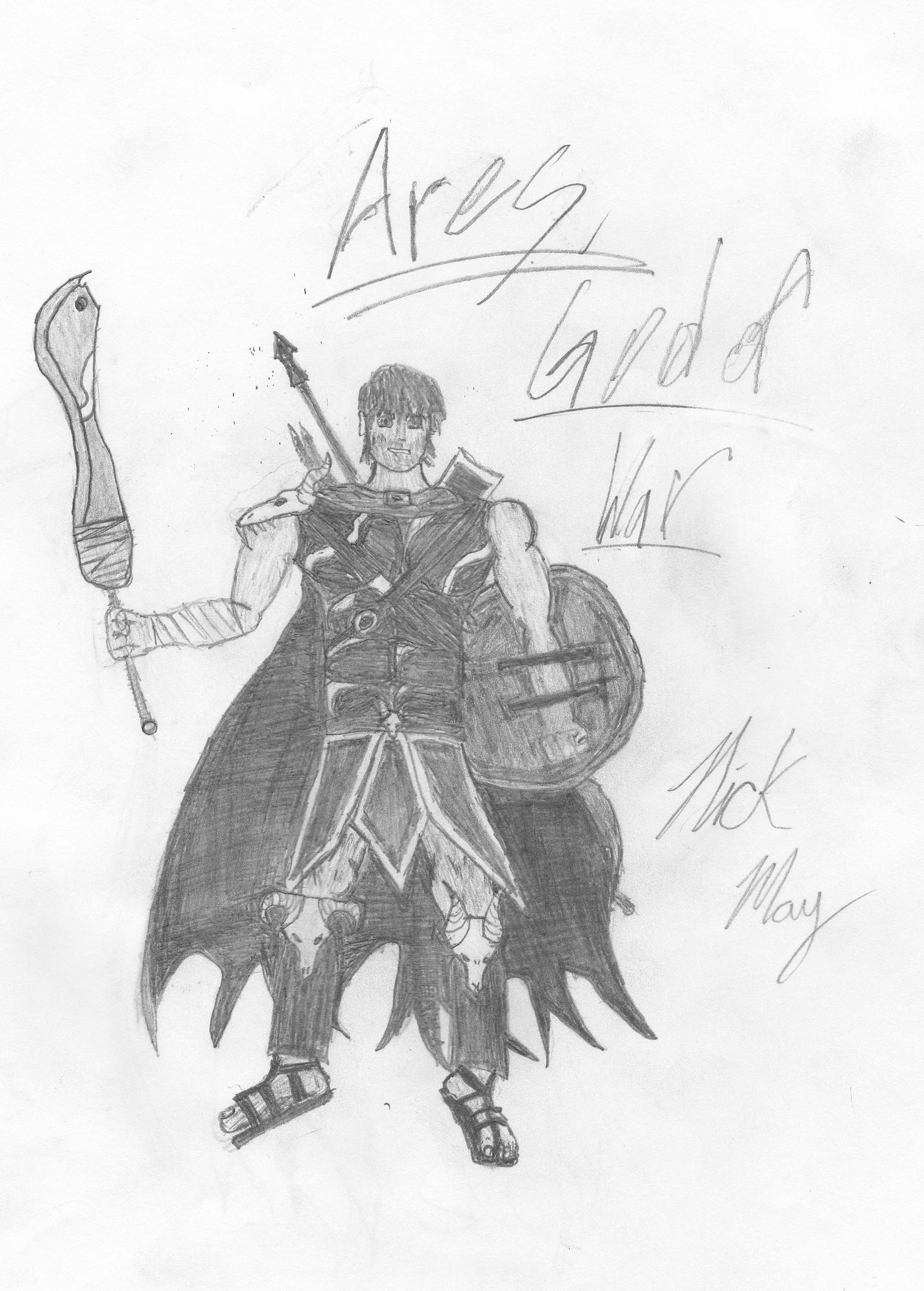 Greek God of War Drawings Greek God Ares Drawing