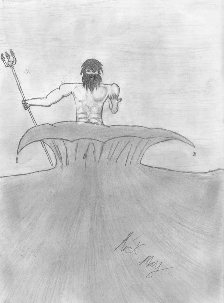 poseidon greek god of the sea by maydae503 on deviantart