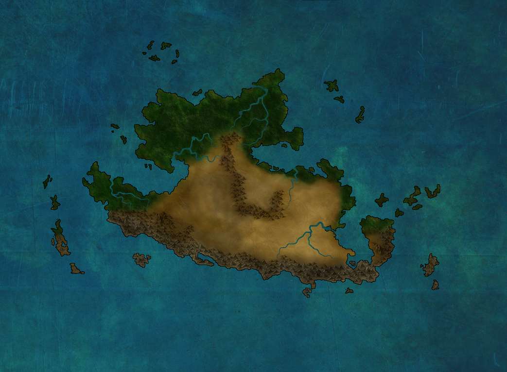 The continent of Scaba by Heledir95