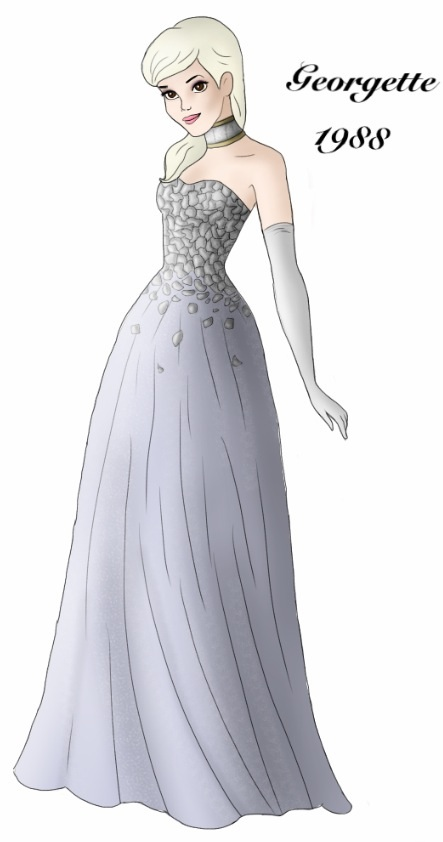 Georgette designer gown by ruletheworldwithsong on DeviantArt