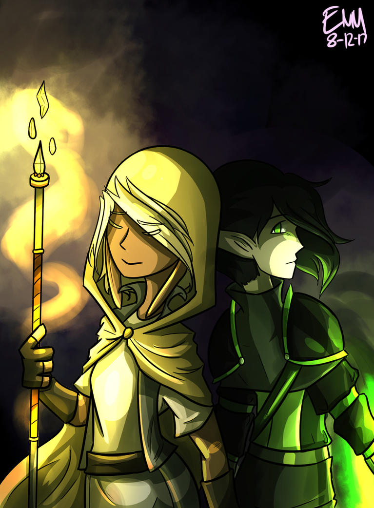 Viridian and Ami//Duo//Dungeoneers by Thunderstar-Zaram