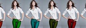 Yoona's Multi-Colored Jeans