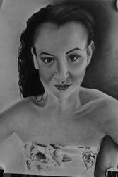 Charcoal portrait by Delvardian