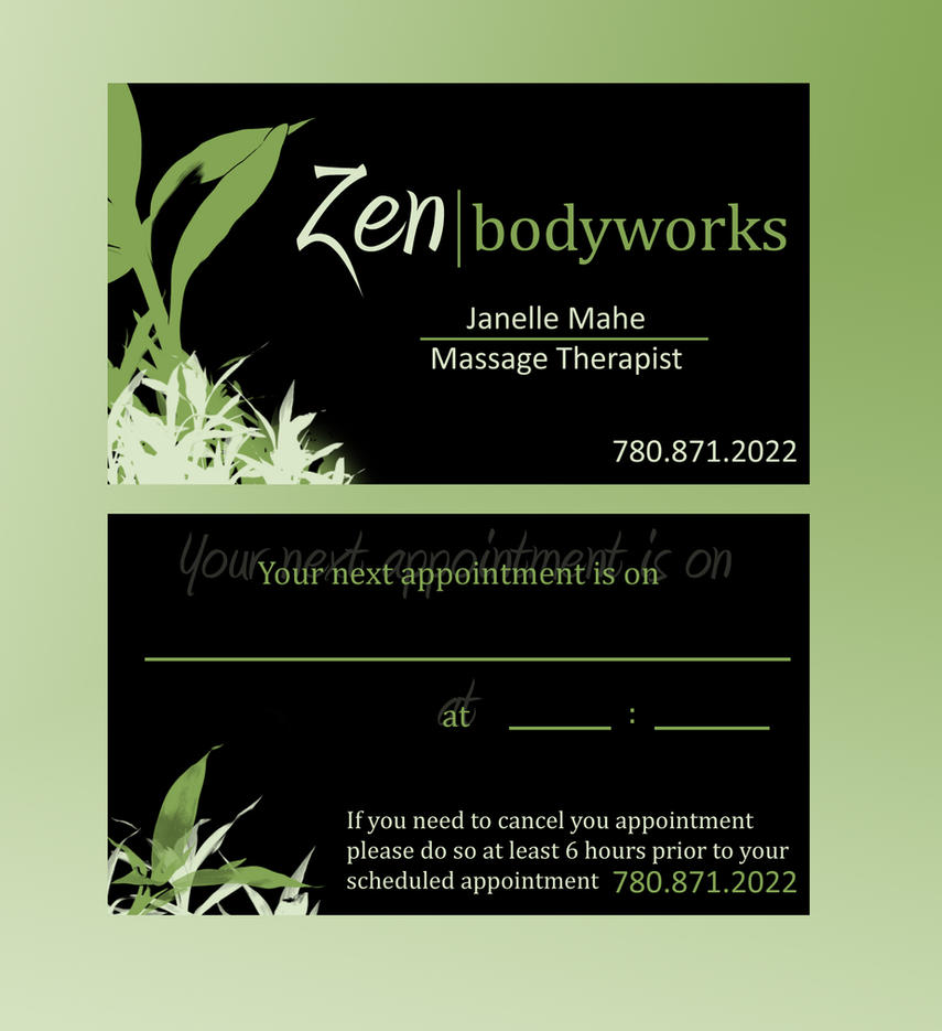 Massage Business Card by mesmerizeme on DeviantArt