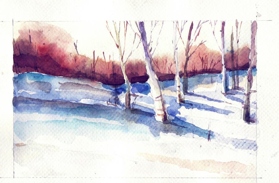 winter landscape by anagurduza