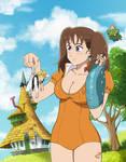 Nanatsu No Taizai Fanart - Diane finds Meliodas