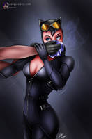 Commission - Catwoman Chloroformed by sleepy-comics
